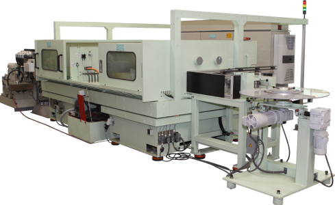 Steel strip grinding machine for razor blades